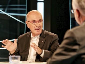 El líder d'UDC, Josep Antoni Duran i Lleida, durant l'entrevista a El Punt Avui TV ANDREU PUIG