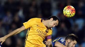 Sergio, contra el Getafe. J. SORIANO / AFP