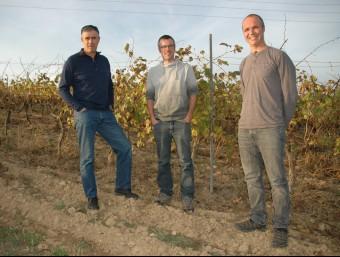 Josep Vidal, Francesc Font i Eudald Sáez, socis d'Agroassessor.  ARXIU