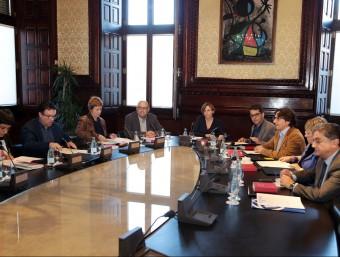 Reunió de la Mesa del Parlament ja constituïda, la setmana passada andreu puig