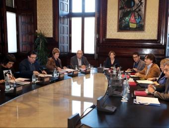 La Mesa del Parlament, celebrada la setmana passat, amb la presidenta Carme Forcadell ANDREU PUIG