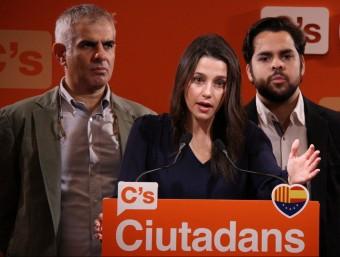 Inés Arrimadas, en roda de premsa aquest dilluns al Parlament ACN