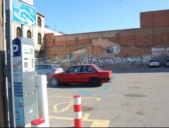 Aparcament de zona blava del Vapor Turull al centre de Sabadell S. PÉREZ