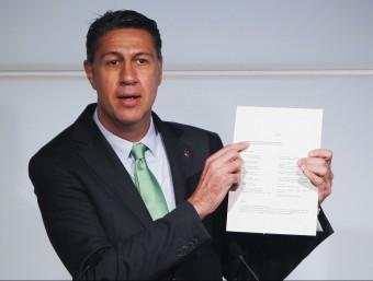 Xavier García Albiol, en roda de premsa al Parlament aquest dimarts EFE