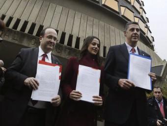 Iceta, Arrimadas i Albiol, al davant del TC amb els tres recursos a la mà EFE