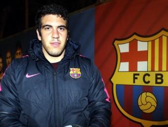 Joan Losada, internacional del Barça. JUANMA RAMOS