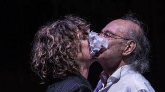 Mónica López i Carles sanmtos, en un instant de l'assaig. . MAY ZIRCUS/TNC