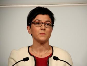 La portaveu del PSC, Eva Granados, aquest dilluns al faristol del Parlament ACN