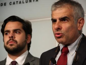 Carlos Carrizosa i Fernando de Páramo, dipuats de Cs, aquest dilluns al Parlament ACN
