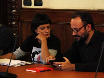 Els diputats de la CUP Anna Gabriel i Benet Salellas, en una imatge recent