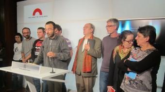 El diputat de la CUP , Albert Botran compareix davant els mitjans. EFE