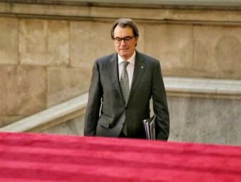 Artur Mas arriba al ple del Parlament que ha de decidir si se l'investeix o no president ANDREU PUIG