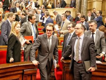 El president de la Generalitat en funcions, Artur Mas, després de la segona votació d'investidura, aquest dijous al Parlament ANDREU PUIG