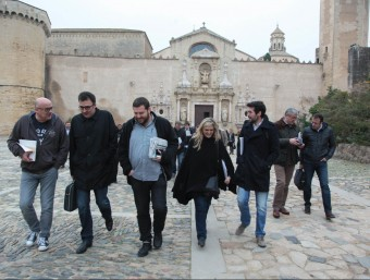 Els diputats de JxSí, després de la reunió d'aquest divendres al monestir de Poblet JUDIT FERNÁNDEZ