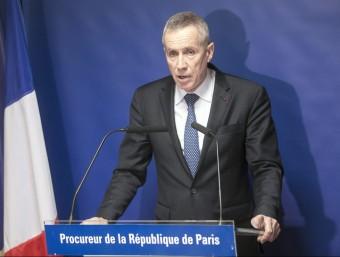 El fiscal general de França, François Molins, durant la compareixença d'aquest dissabte EFE