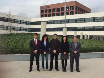 Belmonte, Ruiz, Tarrés, García i Novoa, membres de la Pimec Joves del Maresme PIMEC