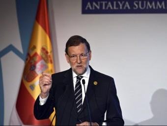 Rajoy, durant la roda de premsa d'aquest dilluns des de Turquia EFE