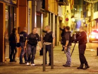 Policies durant els registres al barri de Sant Mateu de Perpinyà L'INDÉPENDANT