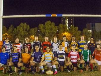 Representants dels equips femenins de Catalunya reunides a Barcelona. J. ANDREU / FCR