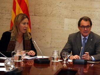 Neus Munté i Artur Mas en una reunió del consell executiu ACN