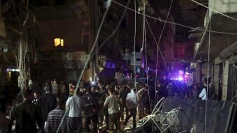 Imatge de Beirut després d'un atac suïcida que va provocar 27 morts. REUTERS