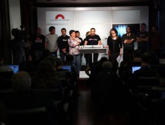 Tots els diputats de la CUP, en roda de premsa al Parlament acn