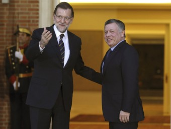 El president espanyol, Mariano Rajoy, va rebre ahir a La Moncloa el rei Abdalá de Jordània EFE