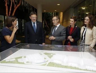 Visita del president Puig ala zona on es va reunir amb l'empresariat. B. SILVESTRE