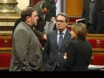 Junqueras, Mas i Forcadell, aquest dijous al Parlament ORIOL DURAN