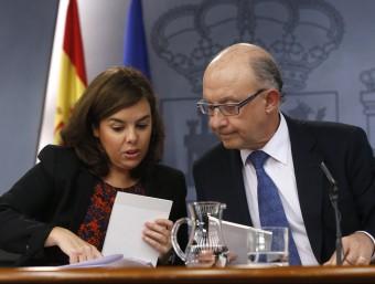Sáenz de Santamaría i Montoro, durant la roda de premsa posterior al Consell de Ministres d'aquest divemdres EFE