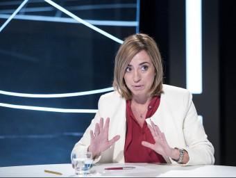 La cap de llista del PSC, Carme Chacón, als estudis d'El Punt Avui TV JOSEP LOSADA