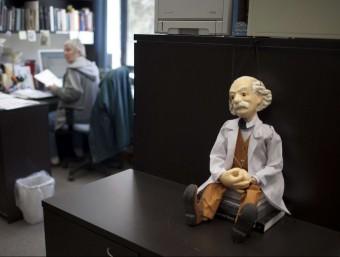 Figureta d'Albert Einstein a la Universitat hebrea de Jerusalem.  ARXIU/EFE