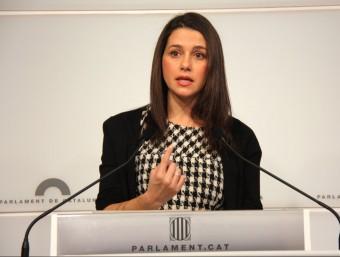 La presidenta del grup de Cs al Parlament, Inés Arrimadas, aquest dijous a la cambra catalana ACN
