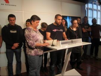 Els diputats de la CUP, en una roda de premsa al Parlament EUROPA PRESS