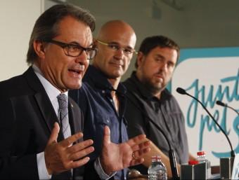 Artur Mas, Raül Romeva i Oriol Junqueras