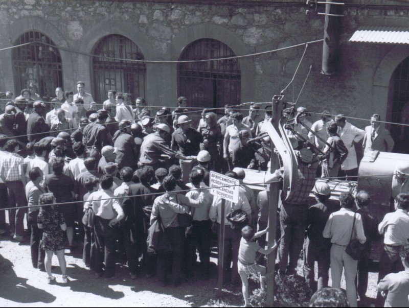 Treballadors de la mina de la Consolació el dia de l'accident, el 3 de novembre del 1975 MUSEU DE LES MINES DE CERCS