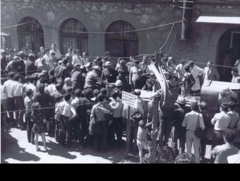 Imatge de l'accident a la mina Consolació de Fígols l'any 1975 MUSEU DE LES MINES DE CERCS