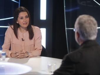 La presidenta del grup de Cs al Parlament, Inés Arrimadas, durant l'entrevista a El Punt Avui TV ORIOL DURAN