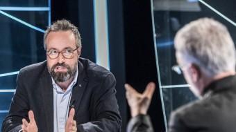 Juan Carlos Girauta, durant l'entrevista ahir a El Punt Avui Televisió amb el director, Xevi Xirgo JOSEP LOSADA