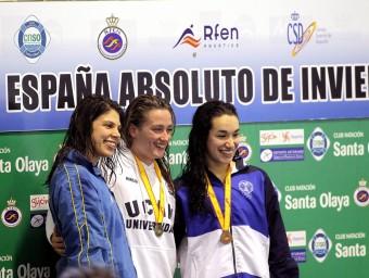 Zamorano (dreta), tercera als 200 estils de l'estatal i Belmonte, gran absent a Netanya EFE