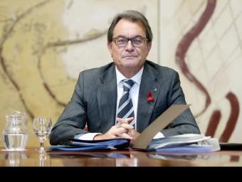 El president de la Generalitat en funcions a la reunió del consell executiu de dimarts EFE