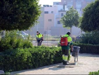 Servei de Parcs i Jardins on està prevista la contractació d'algunes persones. EL PUNT AVUI