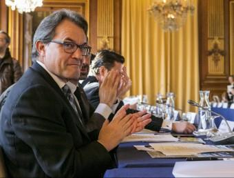 Artur Mas durant l'assemblea general de The Climate Group, que es va fer ahir a tocar de París FERNANDO PÉREZ / EFE