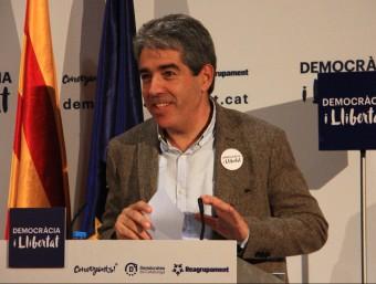 El cap de llista de Democràcia i Llibertat, Francesc Homs, en un acte aquest dimarts a Taradell ACN