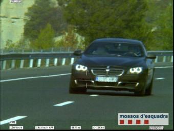 Imatge de la infracció captada pel radar de trànsit, divendres passat MOSSOS D'ESQUADRA