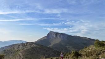 Vista general de la Serra Mariola des del vessant de l'Alcoià. B. SILVESTRE