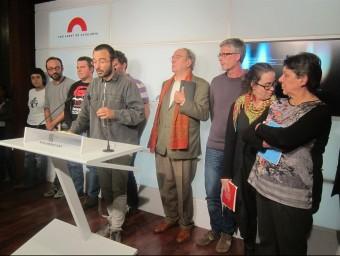 Diputats de la CUP, en una roda de premsa al Parlament EUROPA PRESS