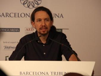 El líder de Podem, Pablo Iglesias, al Barcelona Tribuna ACN