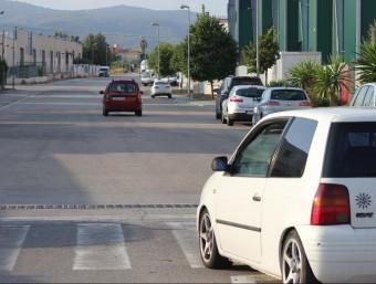Un carrer del polígon industrial de Llorenç del Penedès. C.M. / TAEMPUS