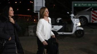 Carme Chacón va ser la primera a arribar als estudis de TV3 ORIOL DURAN